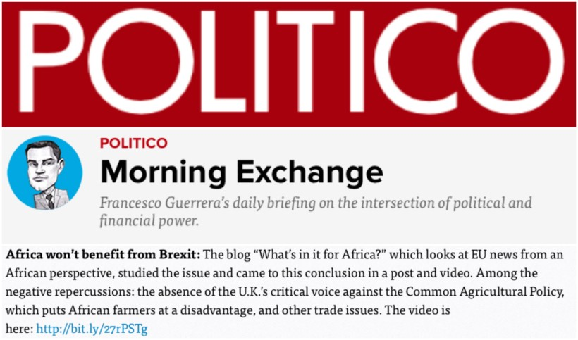 POLITICO Morning Exchange 17 May 2016