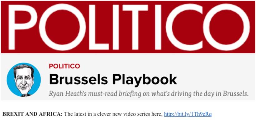 POLITICOPlaybook 17 May 2016
